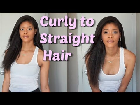Curly to Straight Hair Tutorial