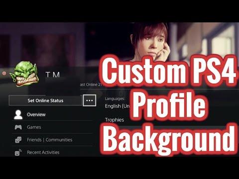PS4 - Custom Profile Background