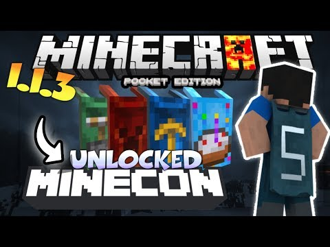 MINECRAFT PE 1.4 UNLOCKED CAPES - HOW TO UNLOCK MINECON CAPES IN MCPE 1.4.2 - USING FREE CODE
