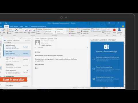 Outlook Customer Manager Getting started