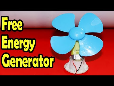How To Make Free Energy Generator At Home