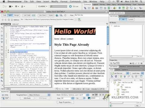Dreamweaver CS5 - External CSS Part 2
