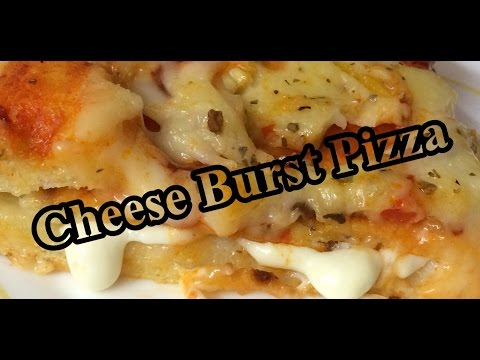 Cheese Burst Pizza At Home Recipe | Easy To Cook Pizza Recipe