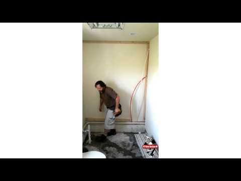 Weird shower wall build