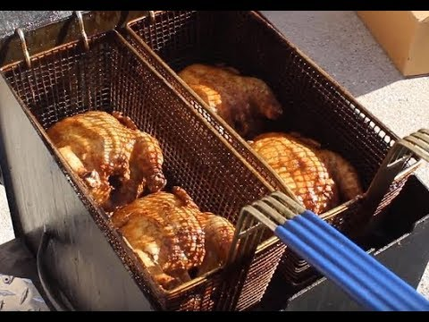 Deep-Fried 4 Cornish Hens at once!  (In the Cajun Fryer)