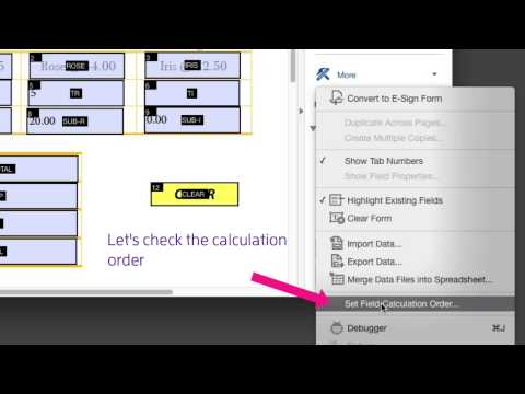 Adobe Acrobat DC - Changing order of field calculations