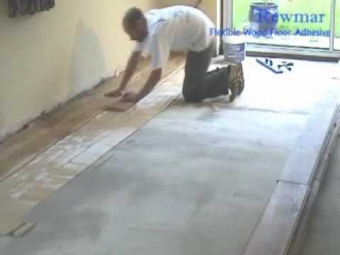 Installing a Solid Oak Floor with Rewmar MS Polymer Flexible Adhesive