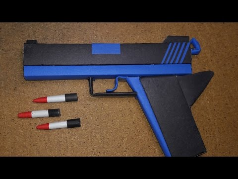 |DIY| How to Make a Paper Defense Gun  That Shoot Paper Bullet-Toy Weapons-By. Dr.Origami