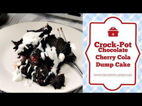 Crock Pot Chocolate Cherry Cola Dump Cake Recipe