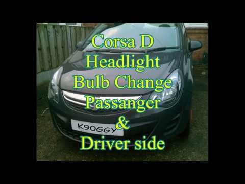replace corsa d headlight bulb 1.3 cdti