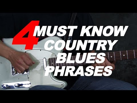4 must know Country Blues licks Buck Owens Don Rich style (with tabs)