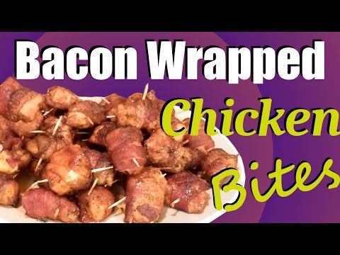 Bacon Wrapped Chicken Bites ~ You'll LOVE these!!