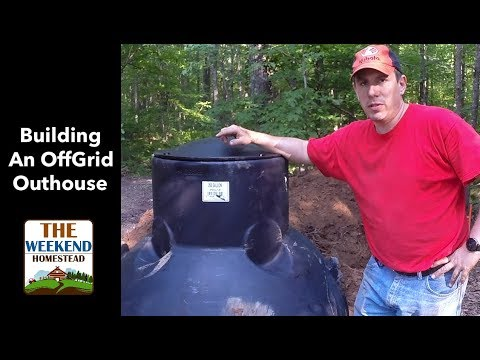 DIY - How to install an Outhouse? Part 1 - Outhouse storage tank install!