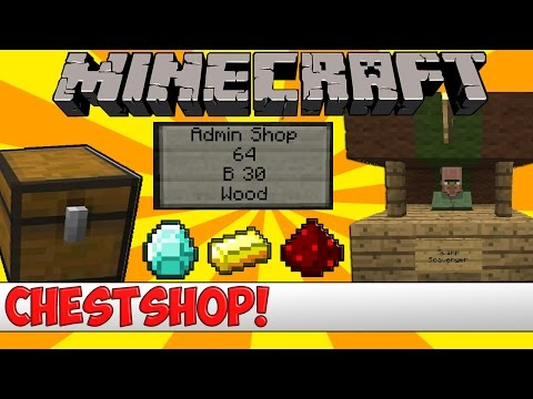 Minecraft Bukkit Plugin - Chest Shop - Tutorial