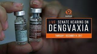 LIVE: Senate hearing on Dengvaxia