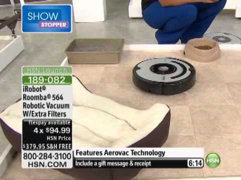 iRobot Roomba 564 Aerovac Pet Robotic Vacuum with 4 Extra Filters