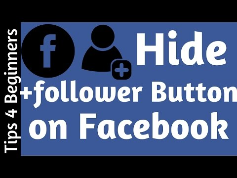 How to remove Follower Button on Facebook | Privacy - Facebook Tips Tricks