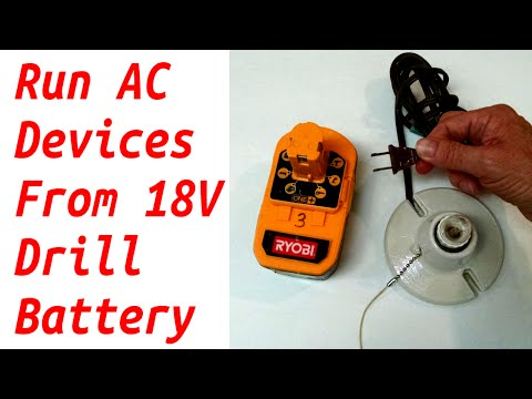 Run 110v AC Devices from 18v Tool Battery - Run 12v Car Devices Too