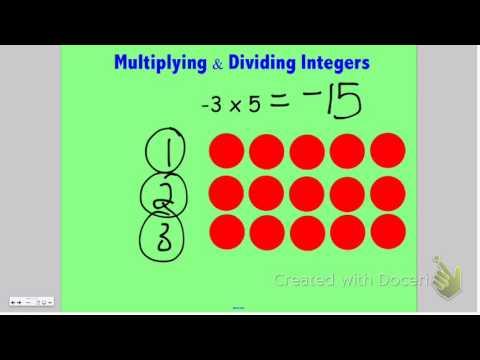 Multiplying & Dividing Integers