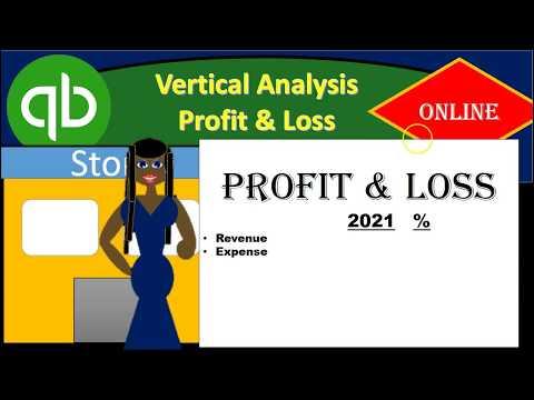 Vertical Analysis Profit & Loss