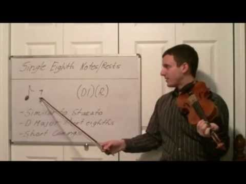 Play Single Eighth Notes on the Violin - Intro to Different Music Note Lengths