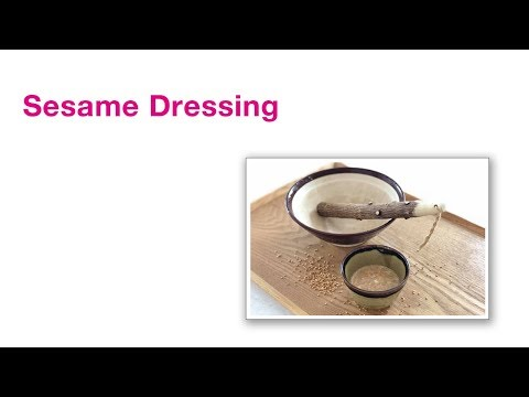 Sesame Dressing | Japanese veggie recipe