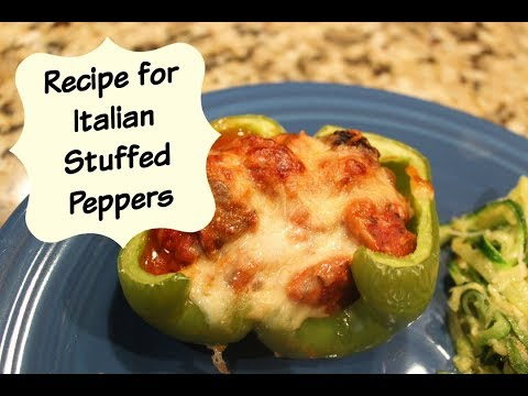 Recipe: Italian Stuffed Peppers   Cooking for Two   Quick & Easy!