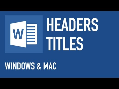 MICROSOFT WORD - DIFFERENT HEADER ON EACH PAGE