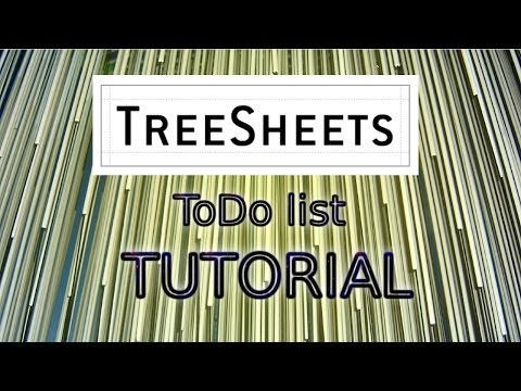 TreeSheets (to-do list) Hands On Tutorial