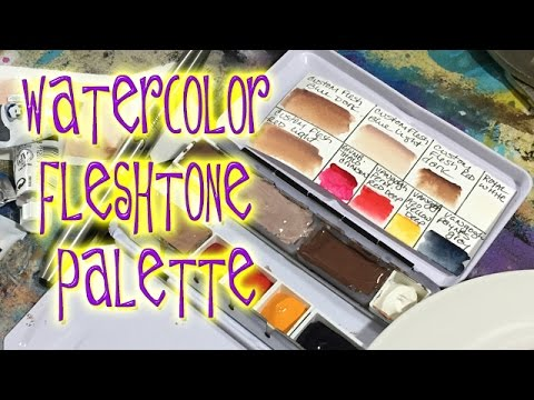Custom Watercolor Flesh Tones Palette