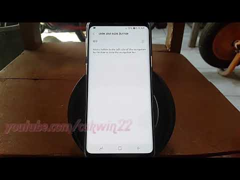 Samsung Galaxy S9 : How to Enable or Disable Navigation Bar button on specific app (Android Oreo)