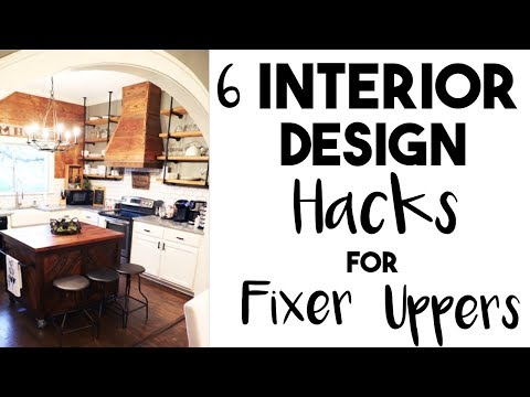 INTERIOR DESIGN: 5 Huge DESIGN HACKS I learned in a FIXER UPPER!