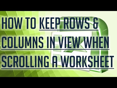 [Free Excel Tutorial] HOW TO KEEP ROW AND COLUMN LABEL IN VIEW WHEN SCROLLING A WORKSHEET- Full HD
