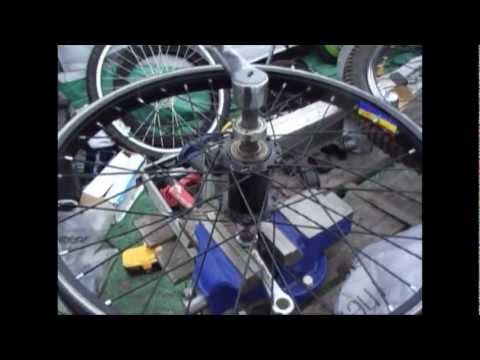 Drift trike Freewheel Huffy Hub Upgrade (Strengthening your Huffy front wheel from 28 to 36 spokes)