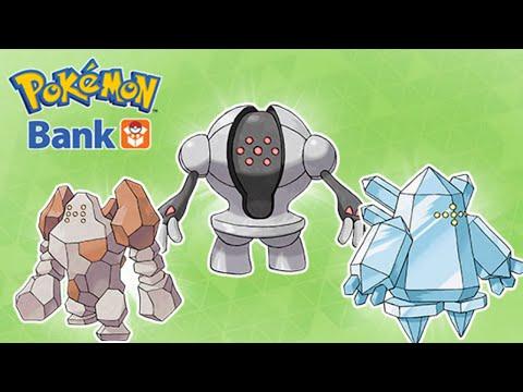 #Pokemon20 Pokebank Pokemon Bank - Free Regi trio! Regirock Registeel Regice | Pokemon ORAS X/Y