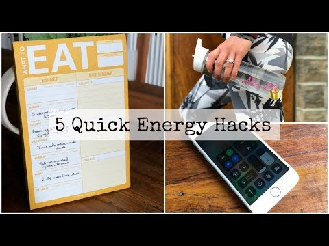 5 Quick Energy Hacks for a Working Week!