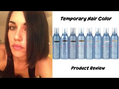 DARK HAIR FOR ONE DAY   WASH OUT COLOR MOUSSE   HAIR FUN!!