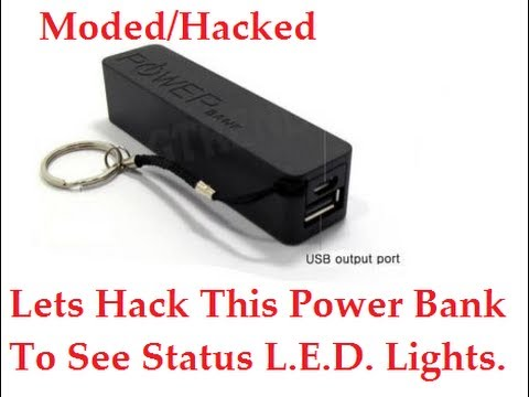 Hack Cheap power bank to show status LED Lights