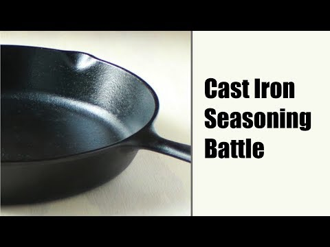 Seasoning Cast Iron (Flaxseed vs. Old School methods)
