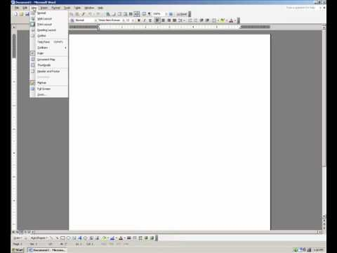 Headers and Footers on Microsoft Word 2003