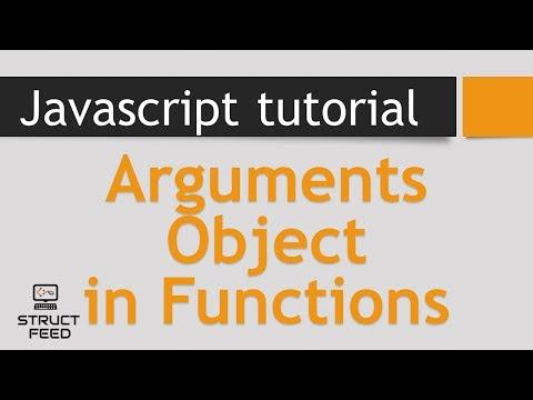 JavaScript Tutorial 9 - Function Arguments Object (Argument Array)