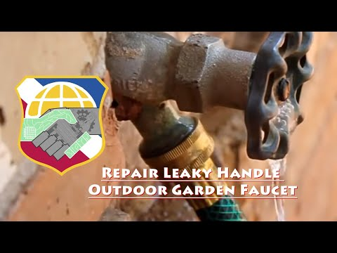 Repair Leaky Handle Outdoor Garden Faucet (self forming graphite silicon grease spigot leak drip)