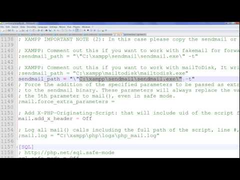 PHP mail function using Gmail account in Windows XAMPP