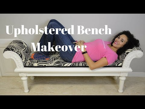 Reupholstered Bench Makeover: Furniture Makeovers - Thrift Diving