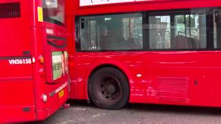 London bus crash - route 25 and 390