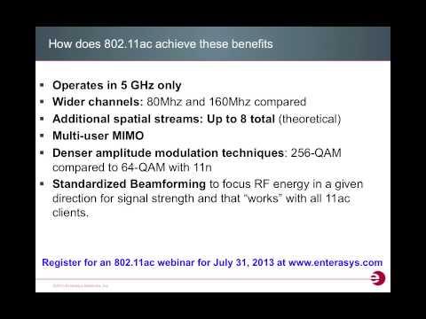 Enterasys 802.11ac Webinar