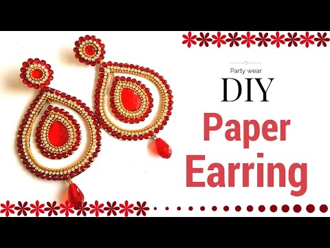 Beautiful Paper Earrings Designs Making Tutorial - Simple | Easy Crafts for Girls and Kids !