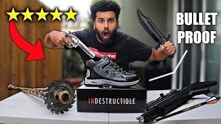 I Bought A 100% UNBREAKABLE SURVIVAL SHOE!! (5 STARS) BULLET PROOF!! *DOOMSDAY PREPPERS*