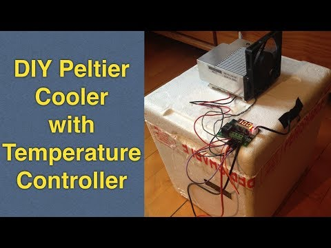 Homemade Peltier Cooler Mini Fridge  DIY with Temperature Control (TEC1-12706 and W1209 Thermostat)