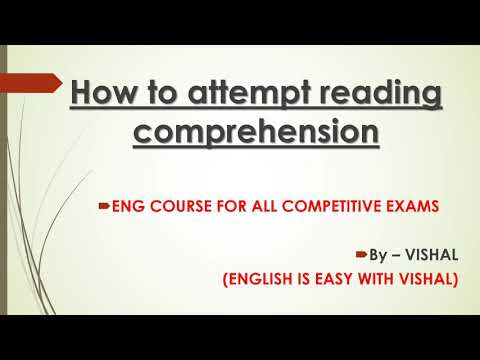 How to Attempt Reading Comprehension with 100% Accuracy/SSCCGL,CHSL/KVS/TGT PGT/FCI/NDA CDS/IBPSPOCL